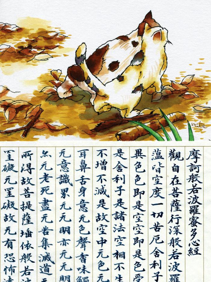 日本樱花奈良笔匠akashiya水墨画水彩颜料手绘毛笔/软笔/20色套装