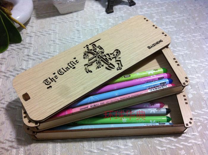 文具盒铅笔橡皮的简笔画