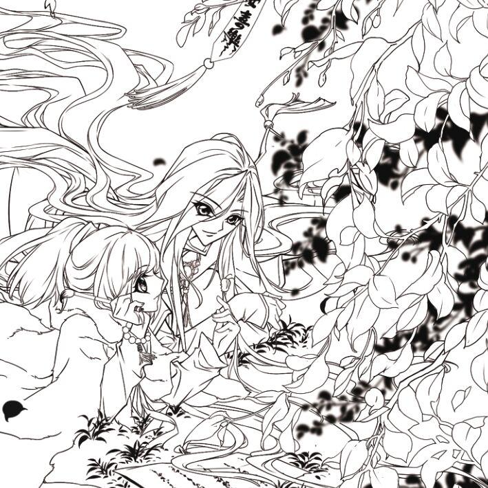 飒漫画 奇境漫游 涂色书 动漫周边 手绘涂色涂鸦填色书 精心打造笔墨