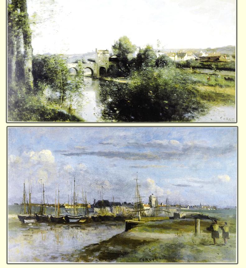 西方绘画大师原作高清临本 柯罗 大师风景 色彩风景临摹写生 西方油画