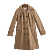 初语风衣2015外套双排扣大衣英伦风上衣薄款显瘦女