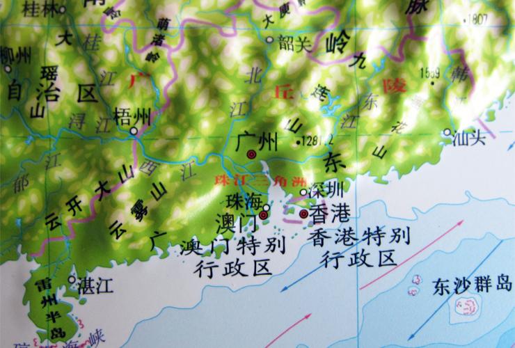 立体凹凸地势地貌地图
