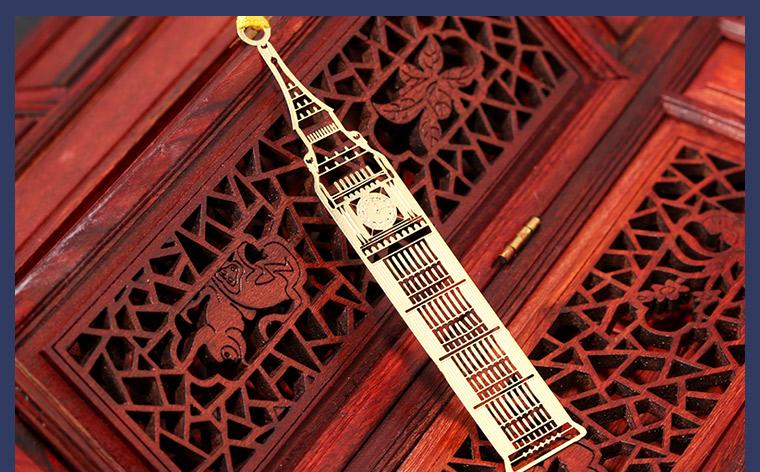 世界著名建筑系列书签 当当自营 英国大本钟 黄铜材质 镂空创意高档金