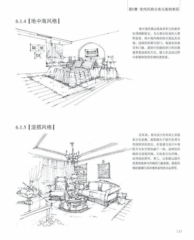 印象手绘 室内设计手绘线稿表现