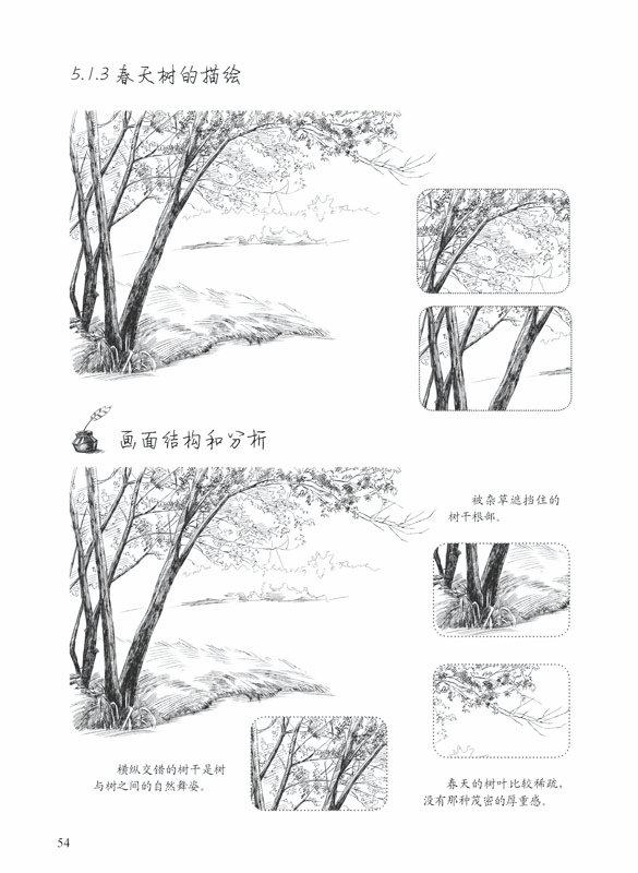园林风景手绘图_风景520