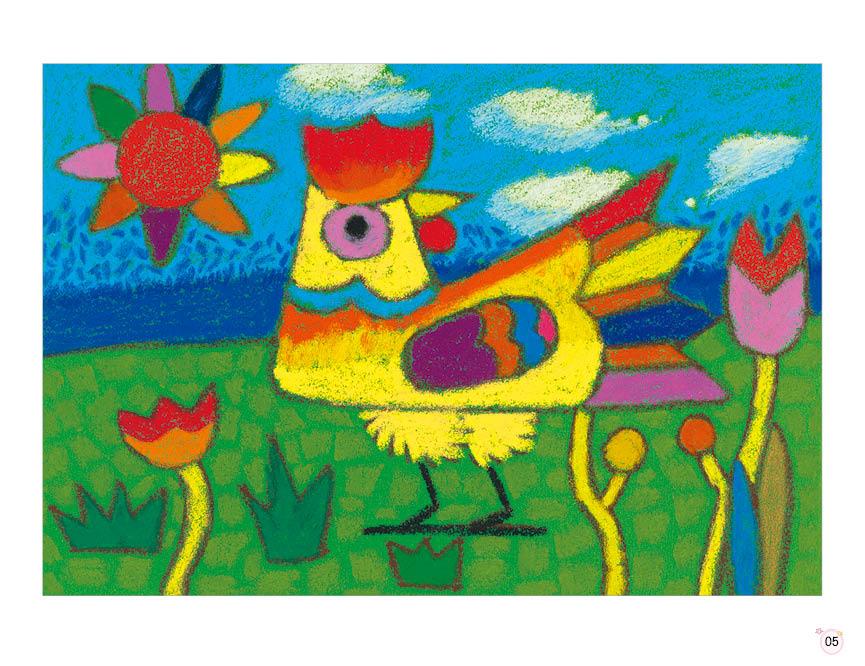 砂纸画色彩明快,画面统一,工具简单,在各种颜色的砂纸上,落笔的轻、重、缓、急、柔等方式都能表现出不同程度的效果,能让孩子体验到不同触觉和肌理的感受。是孩子们易学乐学的一种儿童画。全书一共12课,内容丰富,从易到难,除了基本的绘画步骤外,还有临摹小练习,能够激发儿童对课程的学习和创造,后面的学生作品欣赏,向大家展现了一个神奇的、充满创意的砂纸画世界。