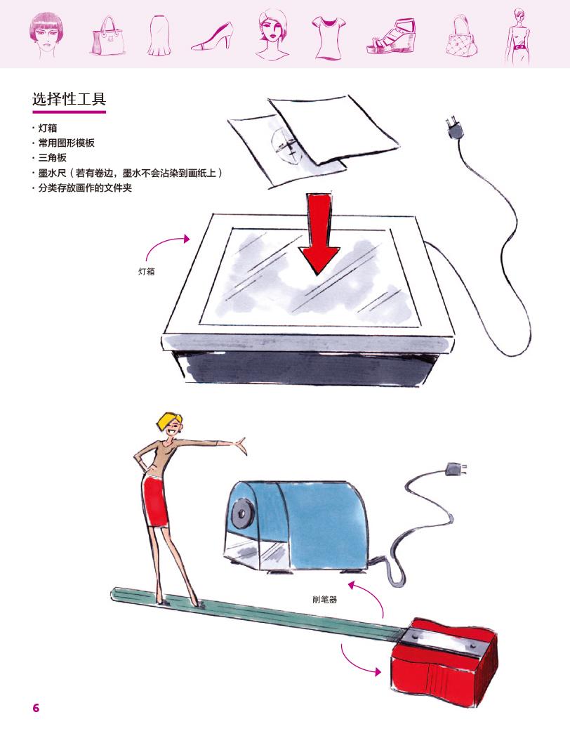 时装设计手绘表现---零基础学画人体造型 服装 时尚单品-w