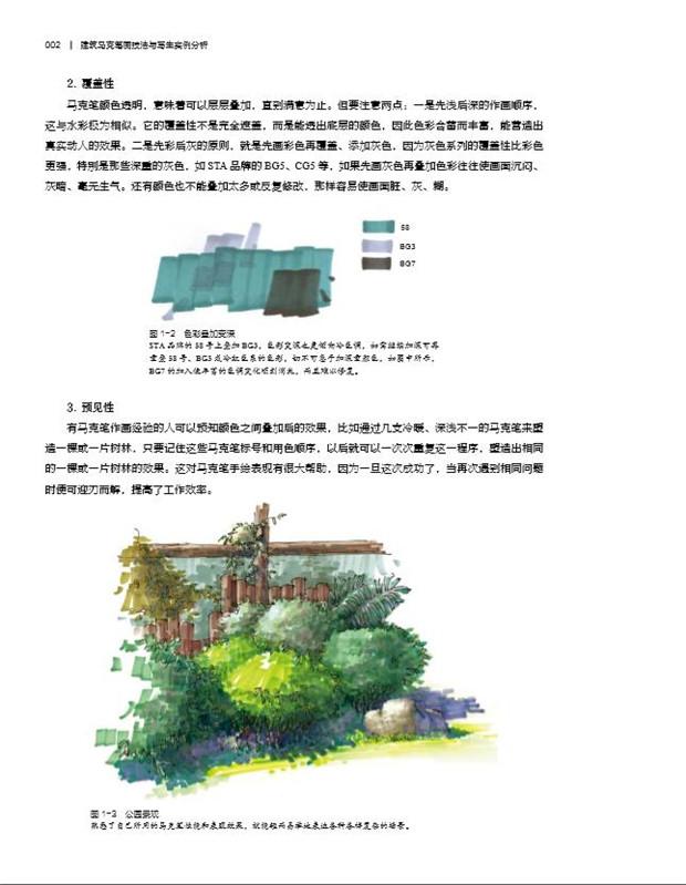 3 现代建筑马克笔画写生实例与步骤/ 101 7 建筑马克笔画作品赏析