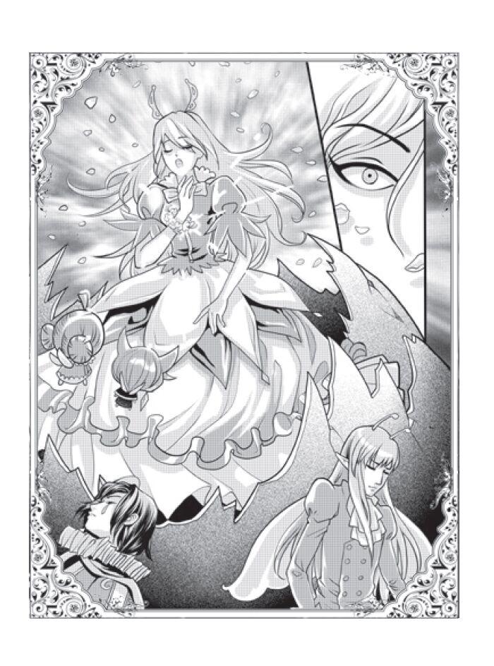 手绘彩铅画精灵公主